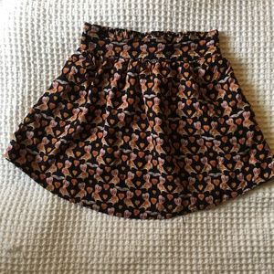 Urban Outfitter Cooperative Squirrel Mini Skirt